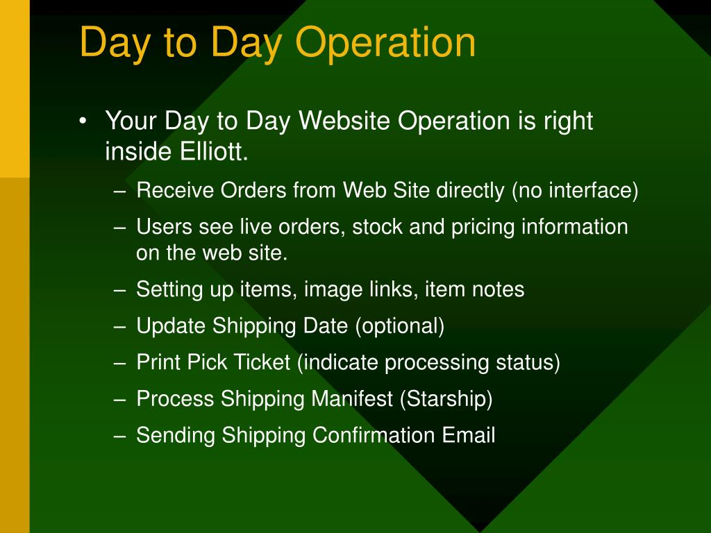 Day to Day Operation
