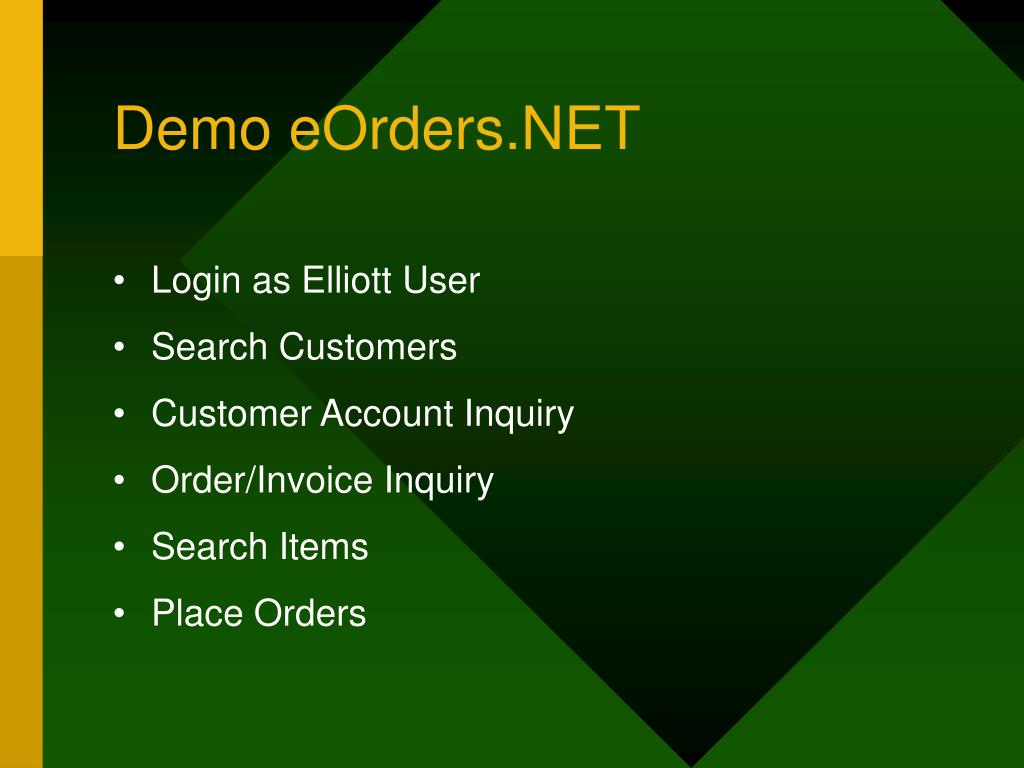 Demo eOrders.NET