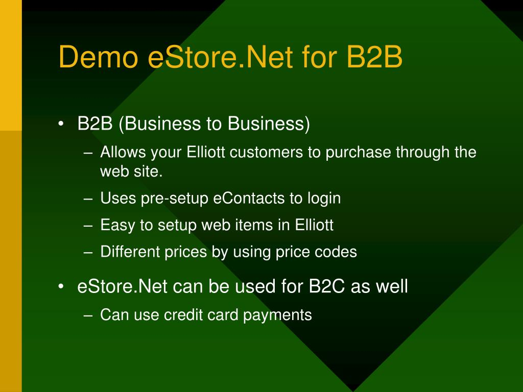 Demo eStore.Net for B2B