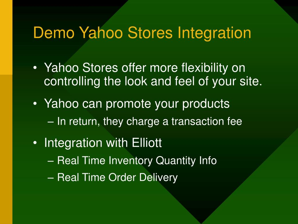 Demo Yahoo Stores Integration