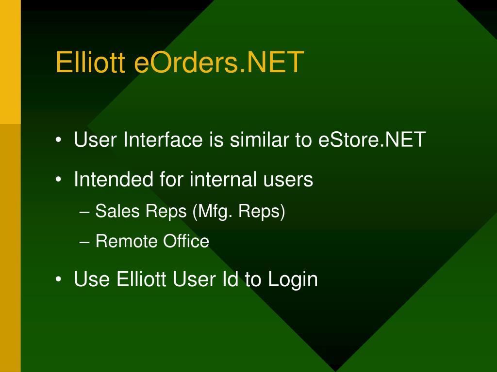 Elliott eOrders.NET