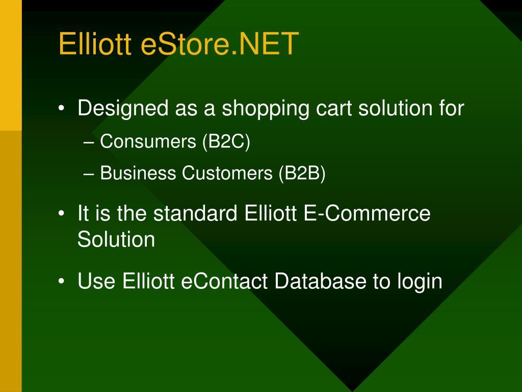 Elliott eStore.NET
