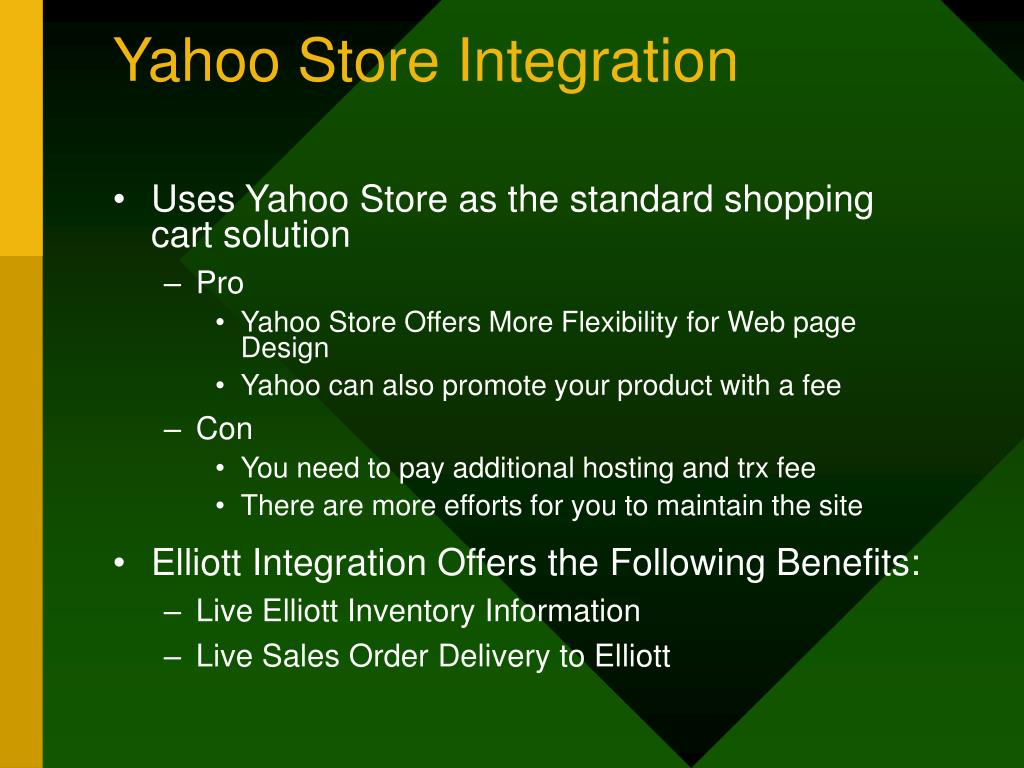 Yahoo Store Integration