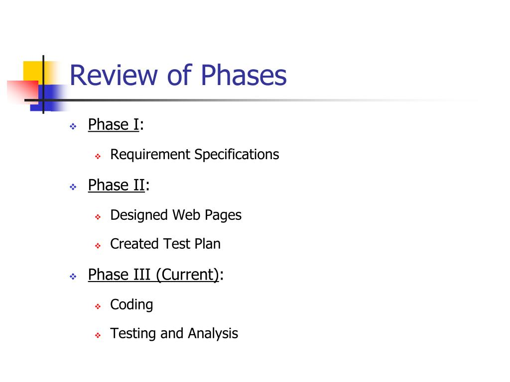 Review of Phases