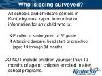 who is being surveyed