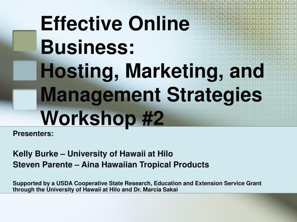 Effective Online Business: