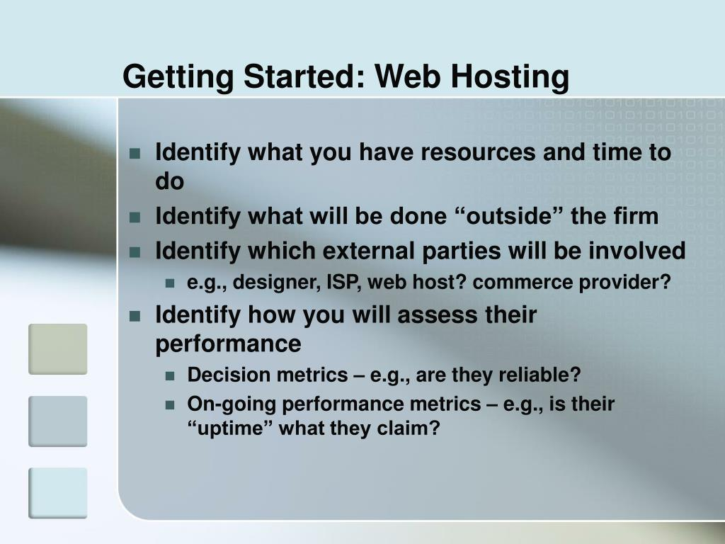 Getting Started: Web Hosting