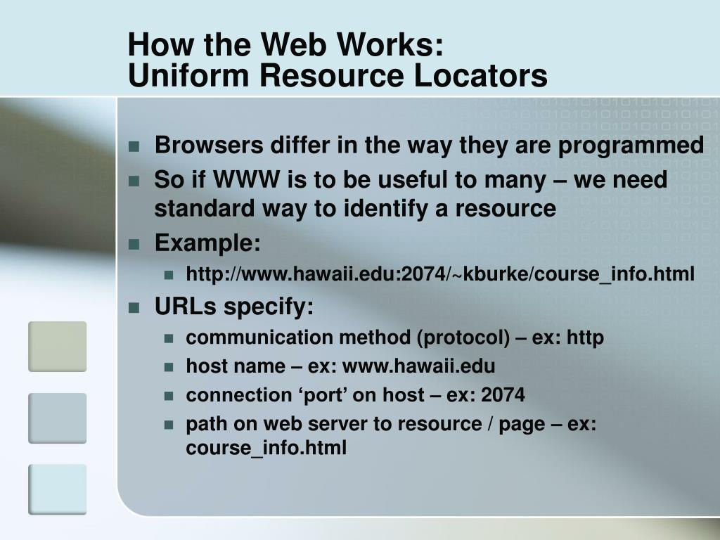 How the Web Works:
