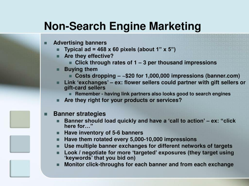 Non-Search Engine Marketing