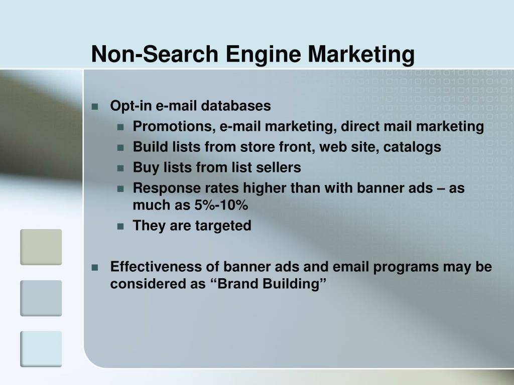 Non-Search Engine Marketing