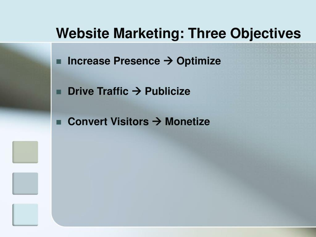Website Marketing: Three Objectives
