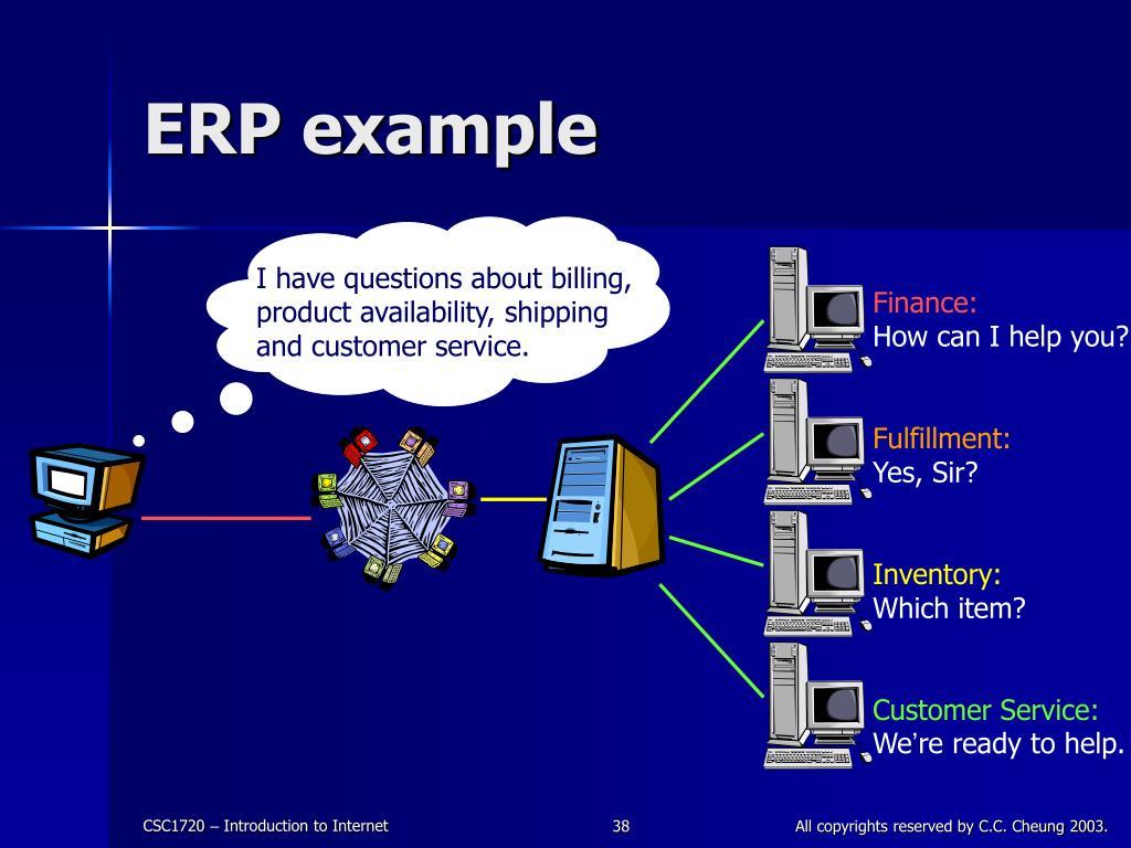 ERP example