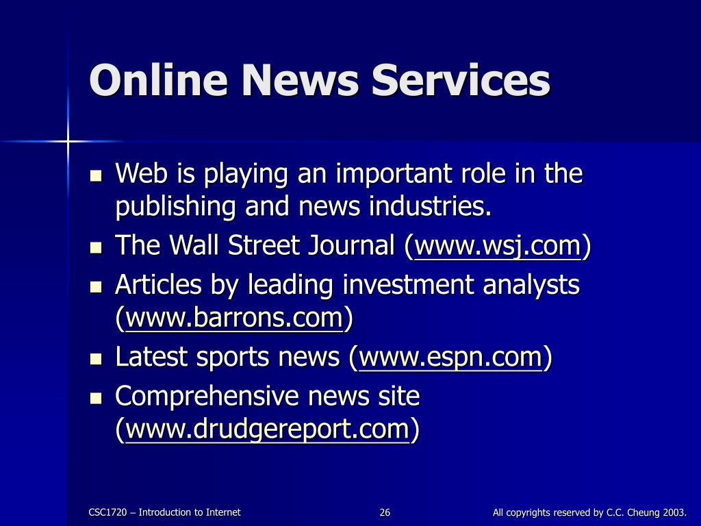 Online News Services
