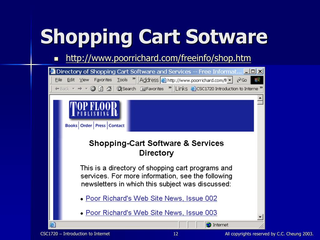 Shopping Cart Sotware