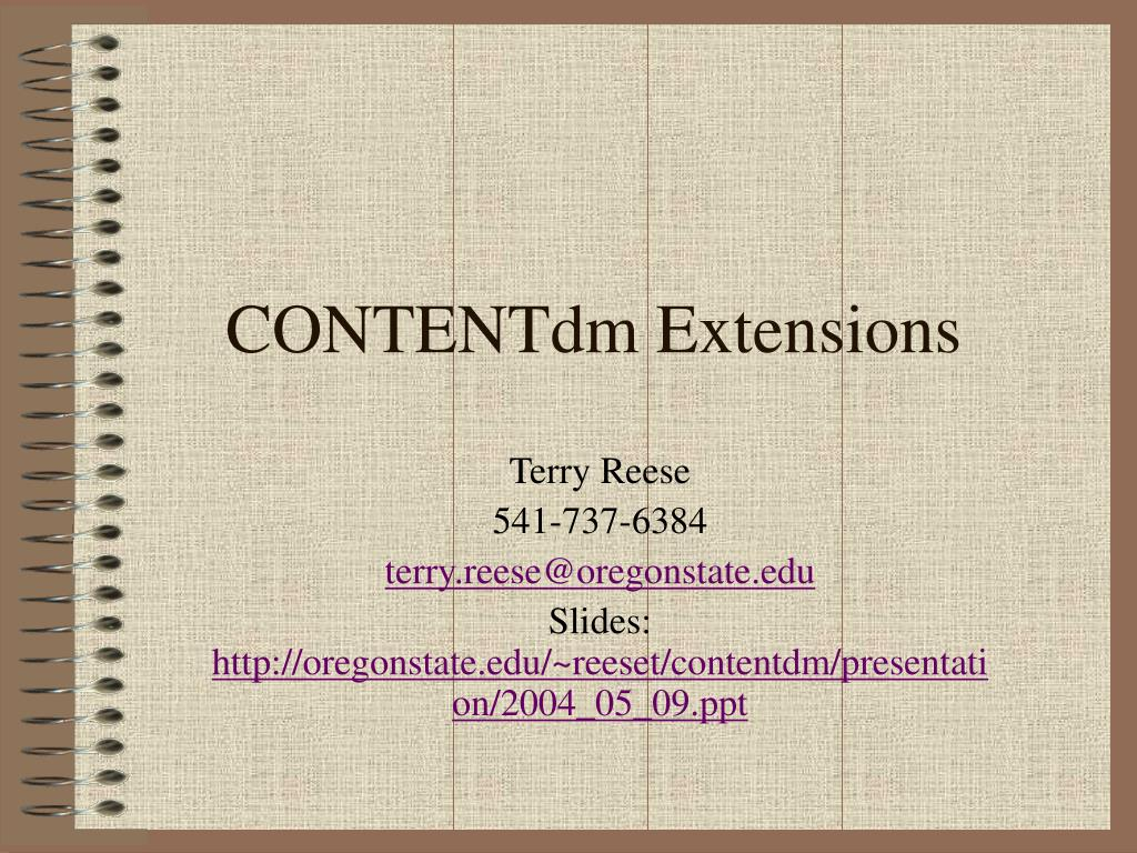 CONTENTdm Extensions