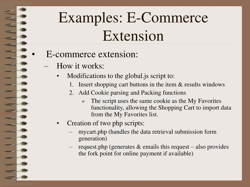 Examples: E-Commerce Extension