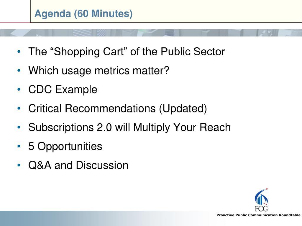 Agenda (60 Minutes)