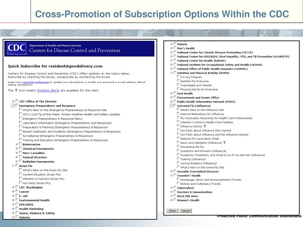 Cross-Promotion of Subscription Options Within the CDC