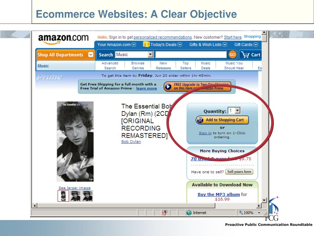 Ecommerce Websites: A Clear Objective