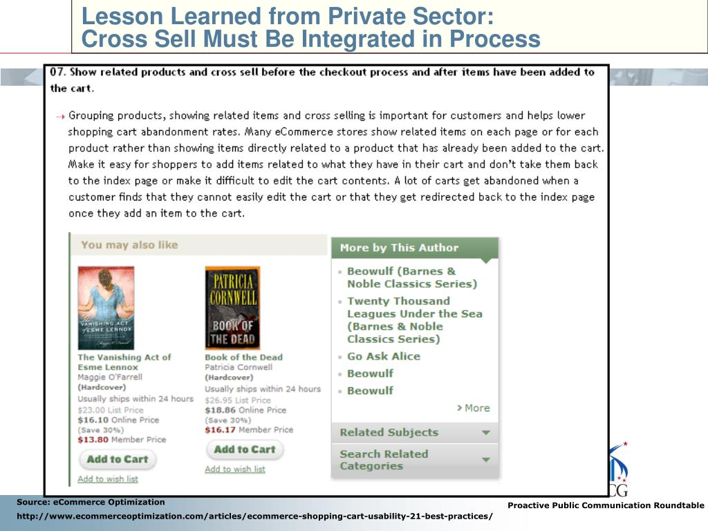 Lesson Learned from Private Sector: