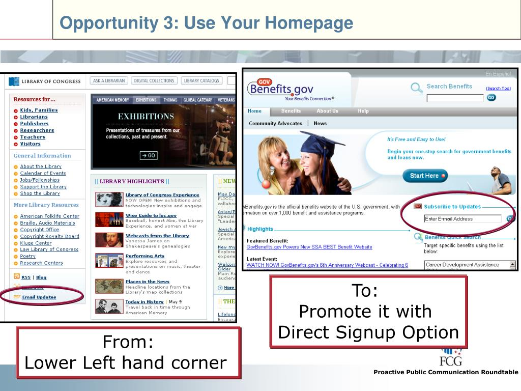 Opportunity 3: Use Your Homepage