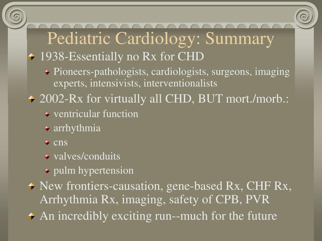 Pediatric Cardiology: Summary
