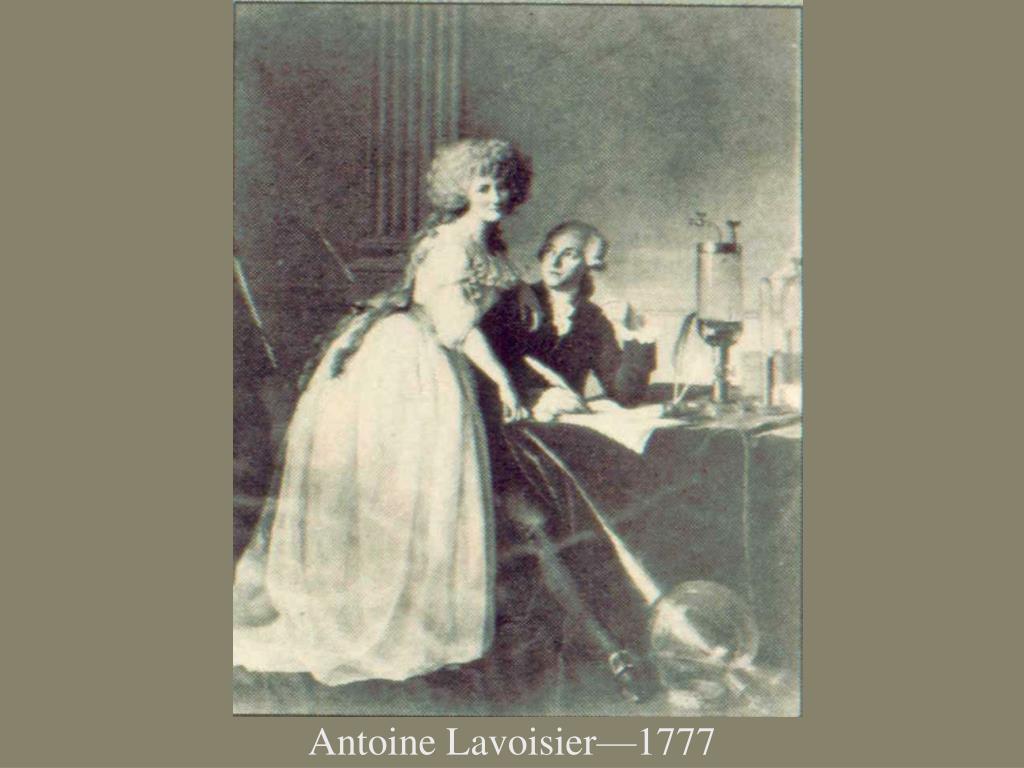 Antoine Lavoisier—1777