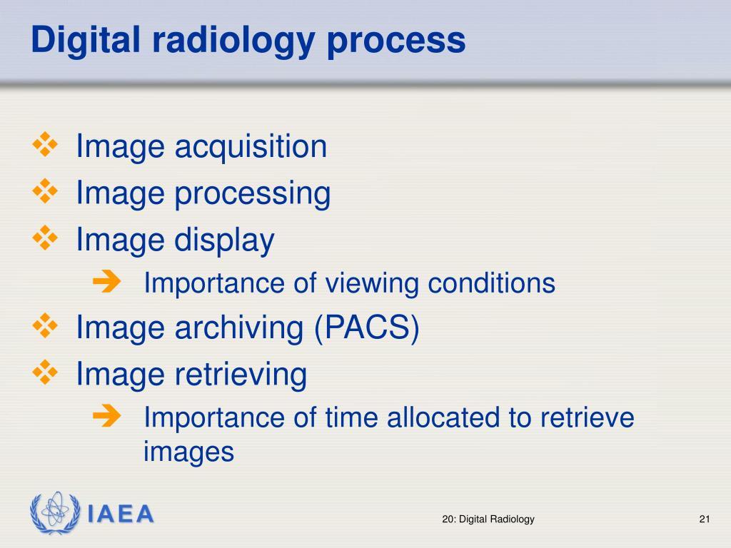 Digital radiology process