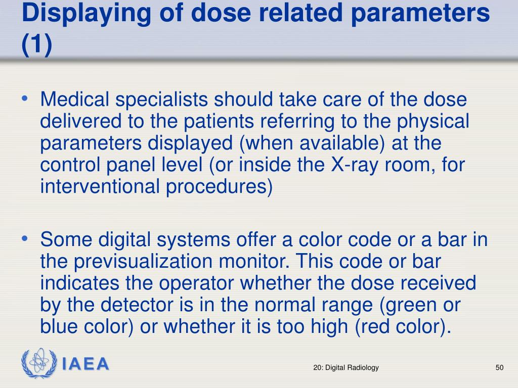 Displaying of dose related parameters (1)