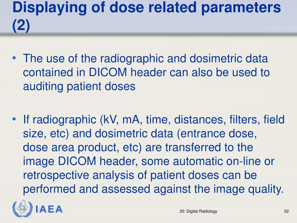 Displaying of dose related parameters (2)