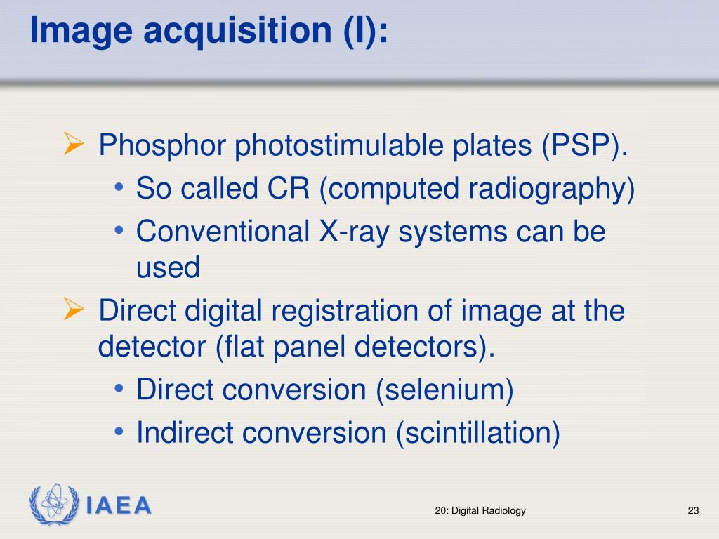 Image acquisition (I):
