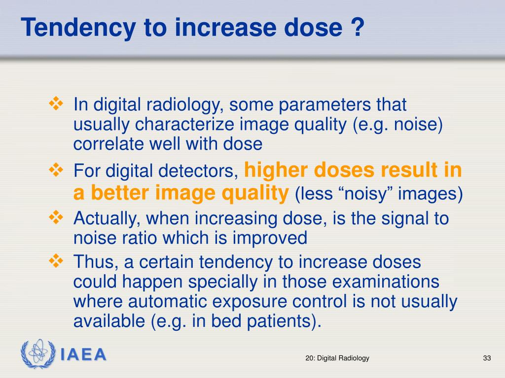 Tendency to increase dose ?