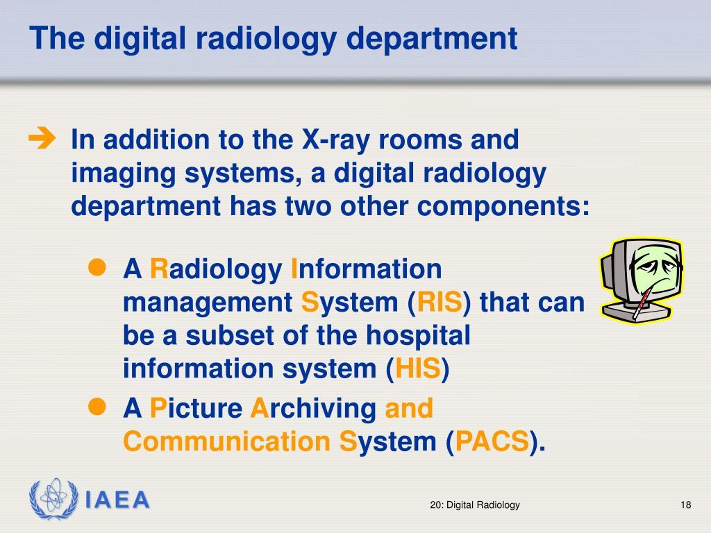 The digital radiology department