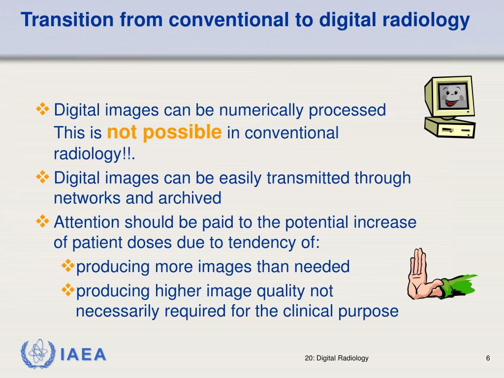 Transition from conventional to digital radiology