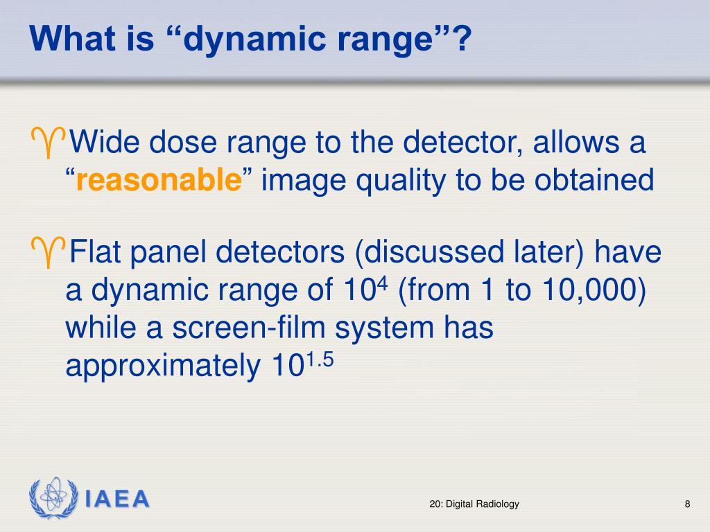 "What is ""dynamic range""?"