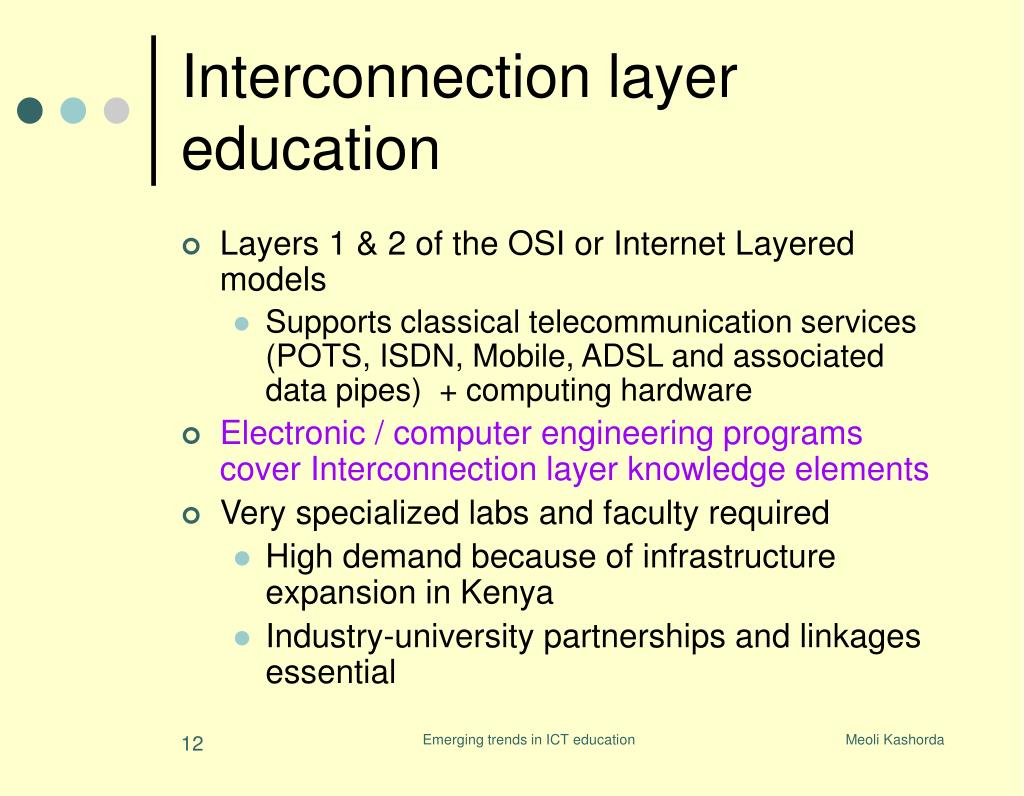 Interconnection layer education