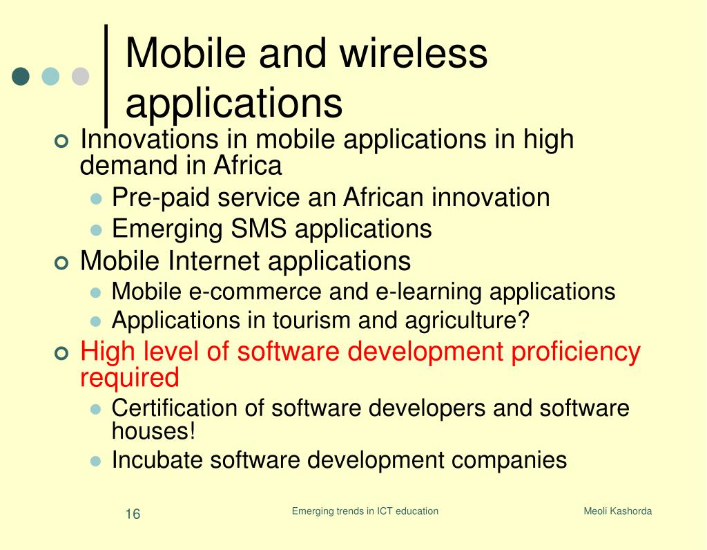 Innovations in mobile applications in high demand in Africa
