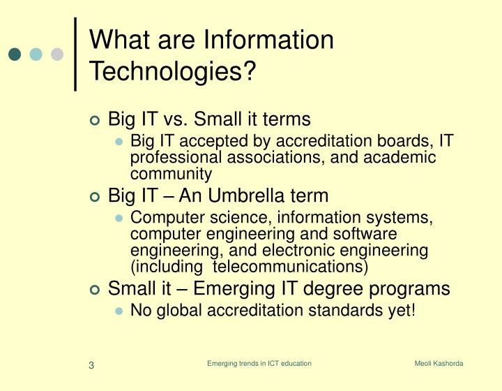 What are information technologies