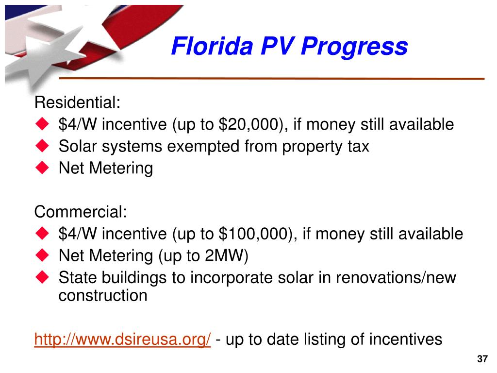 Florida PV Progress