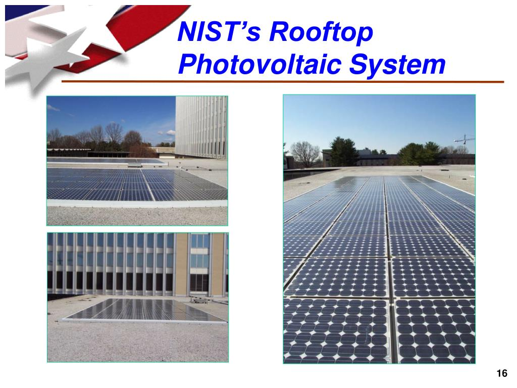NIST's Rooftop Photovoltaic System