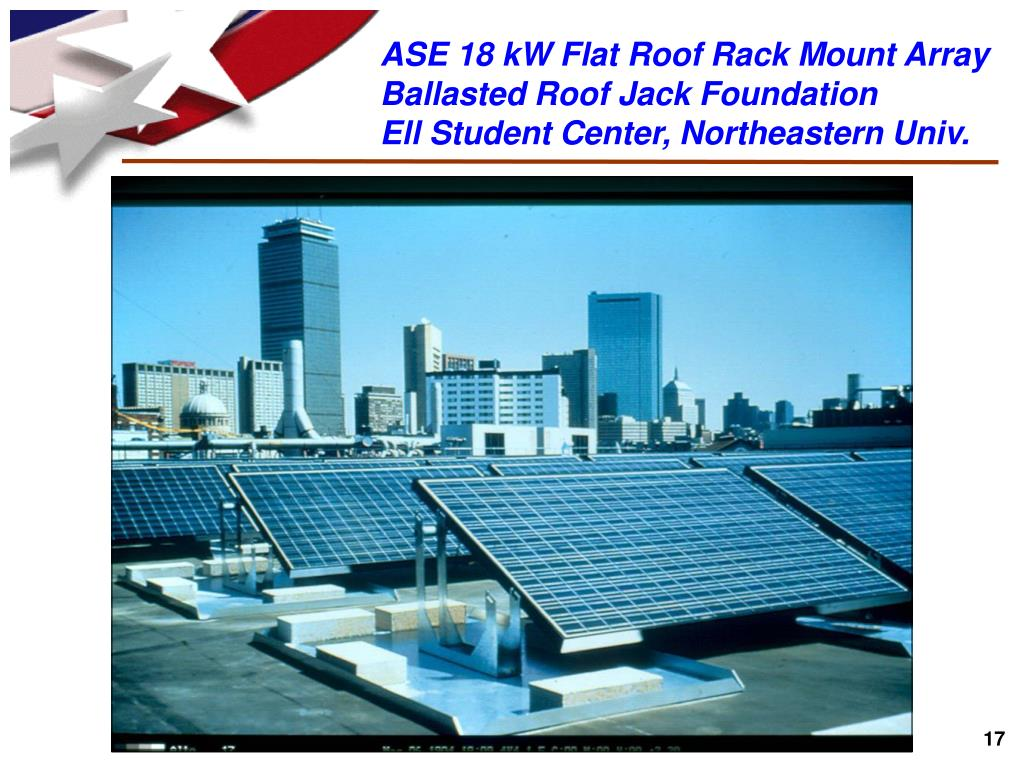ASE 18 kW Flat Roof Rack Mount Array