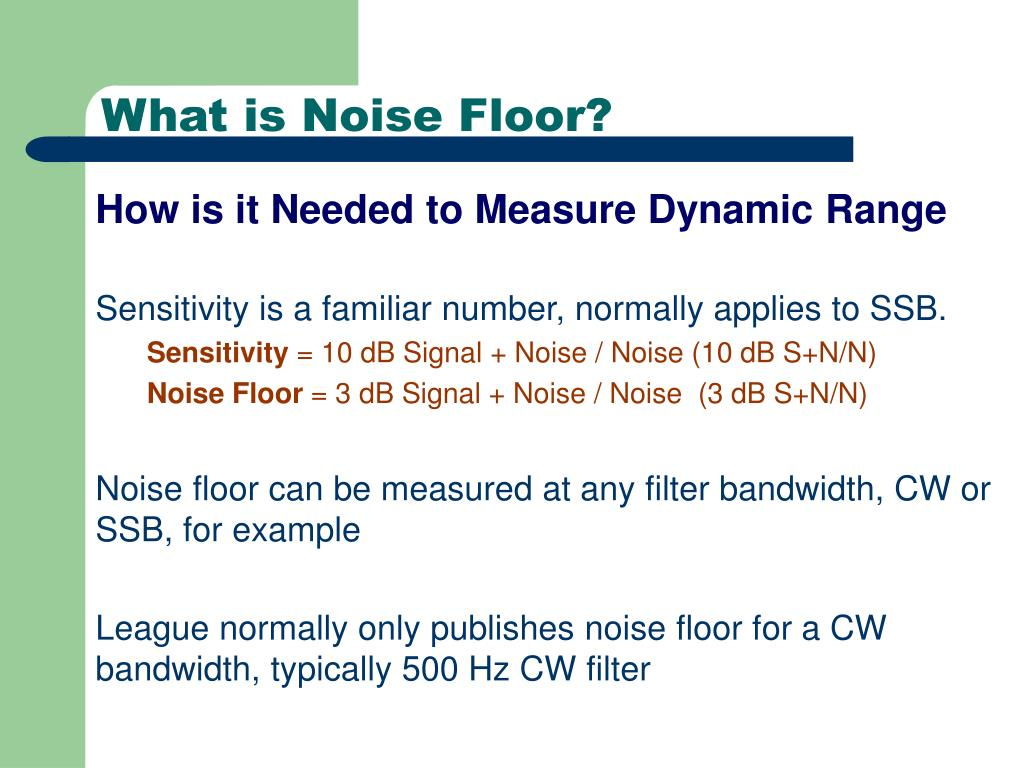 What is Noise Floor?