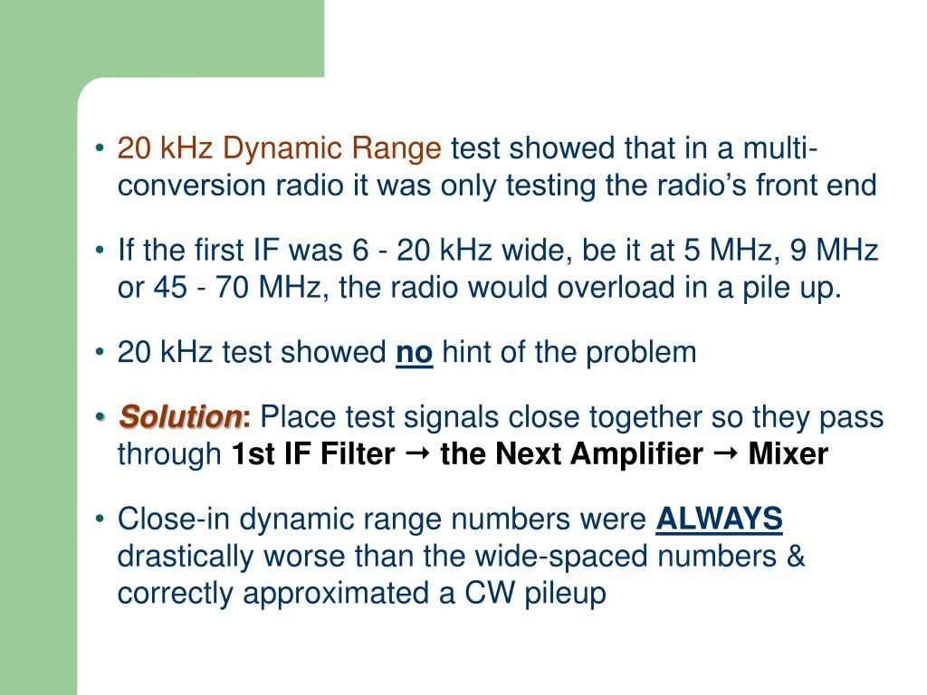 Why Did I Start Testing Radios (page 2)?