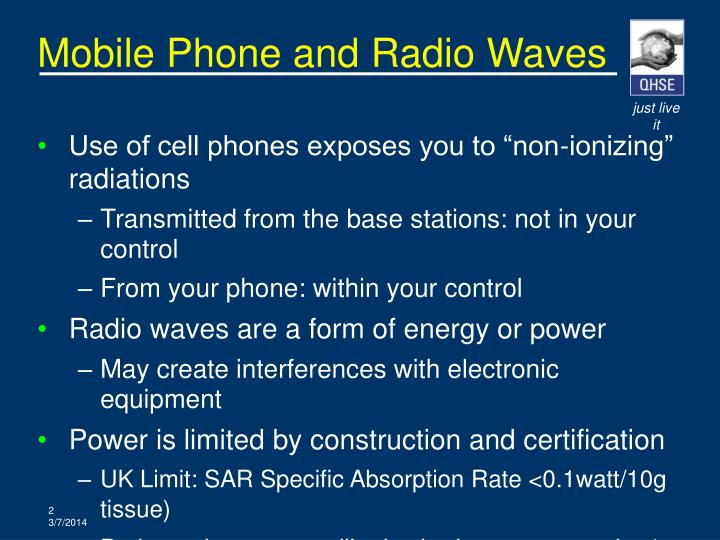 Mobile phone and radio waves