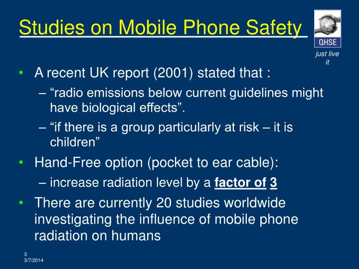 Studies on mobile phone safety