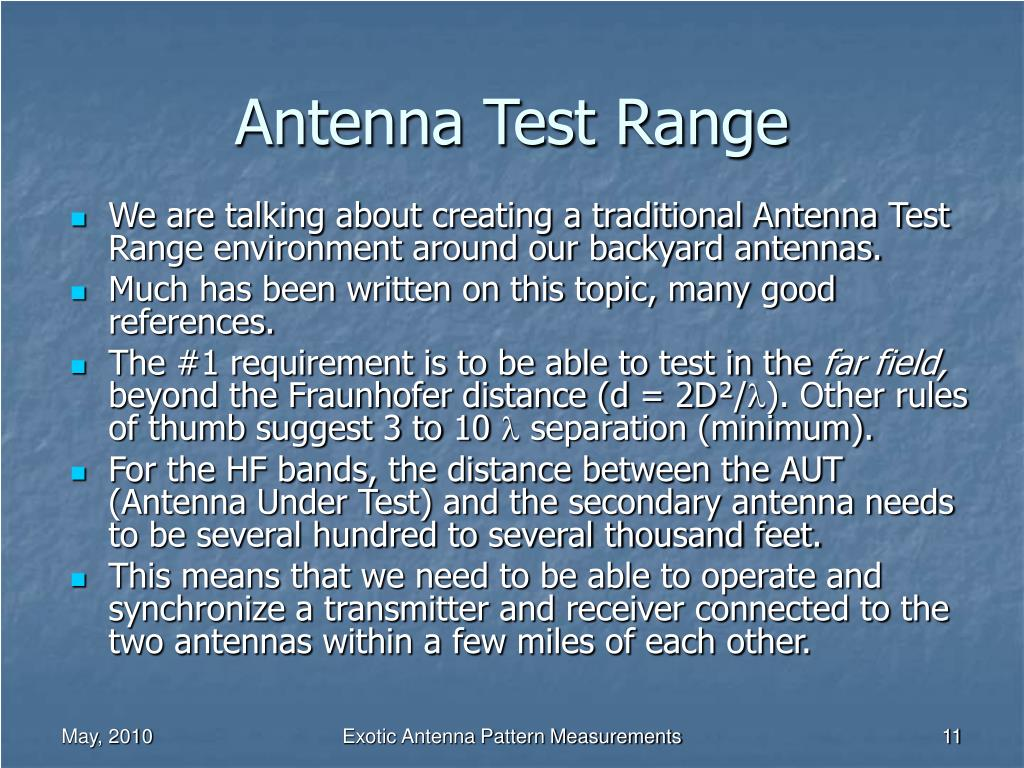 Antenna Test Range
