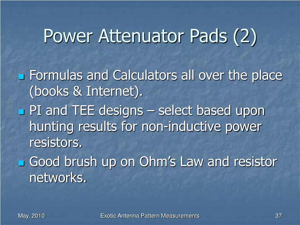 Power Attenuator Pads (2)