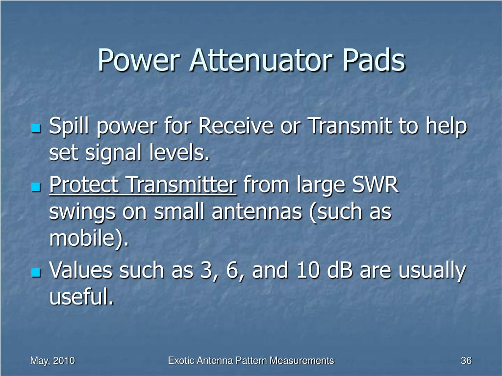Power Attenuator Pads