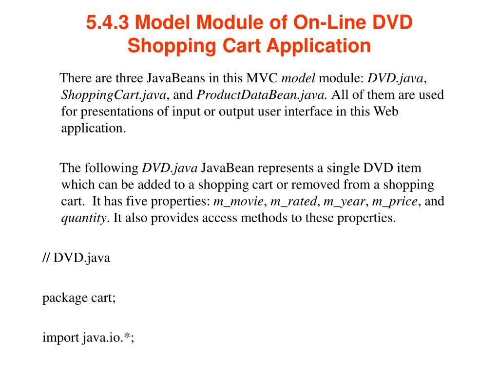 5.4.3 Model Module of On-Line DVD Shopping Cart Application