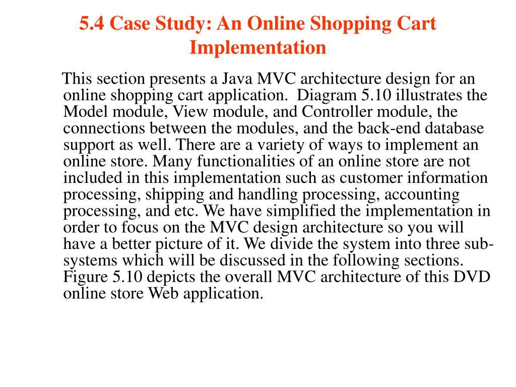 5.4 Case Study: An Online Shopping Cart Implementation